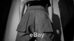 Women High Waist Pants With Inverted Pleats