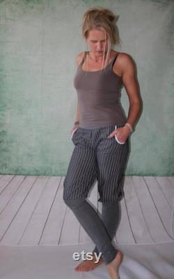 knickers Bloomers striped Pants with gray cuffs pants