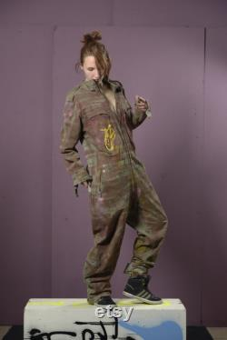 olive green Bundeswehr overall, size M L who are heroes and who are da terrorists from the collection Fashion Punks fuck off