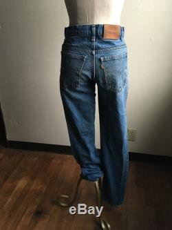 vintage 80s levis 509 blue jeans made in usa 30 x 33