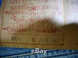 vintage LEVIS 1994 501 Preshrunk Jeans Size 38x30 Never Worn, Still With Tags On